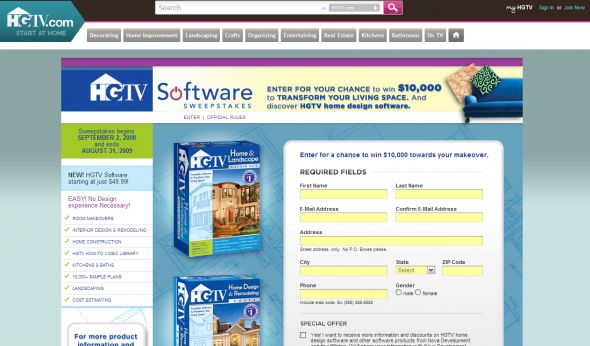nova development hgtv software sweepstakes