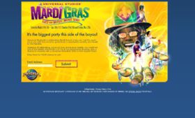 Universal Orlando Mardi Gras Instant Win and Sweepstakes