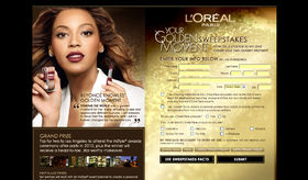 L'Oréal Your Golden Moment Sweepstakes