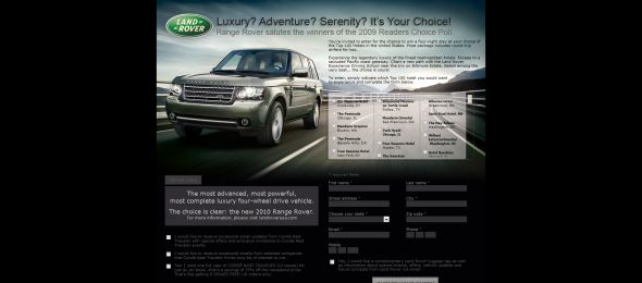 Land Rover Sweepstakes