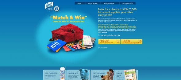 LYSOL Match & Win Instant Win Game & Sweepstakes