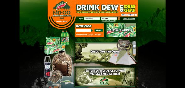 dewoutdoors.com – MD-OG Mtn Dew Outdoor Gear Promotion
