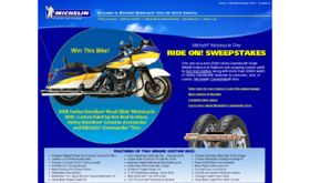 Michelin Motorcycle Tires 2008 Ride On! Sweepstakes