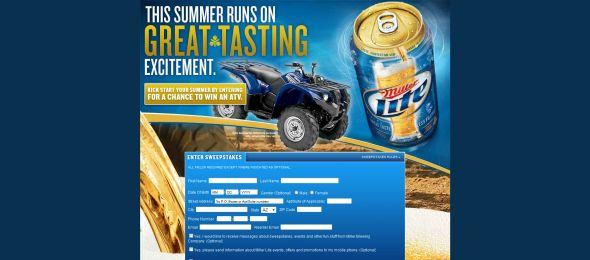 Miller Lite Kick Start Summer Sweepstakes