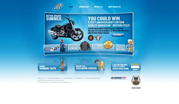 Miller Lite Better. Bolder. Summer. Sweepstakes