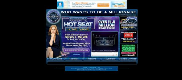 Who Wants to be a Millionaire You're in the Hot Seat Home Game
