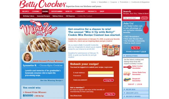 Mix It Up With Betty! Cookie Mix Recipe Contest