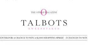 Oprah.com/TalbotsSweeps – The Oprah Magazine Talbots Sweepstakes
