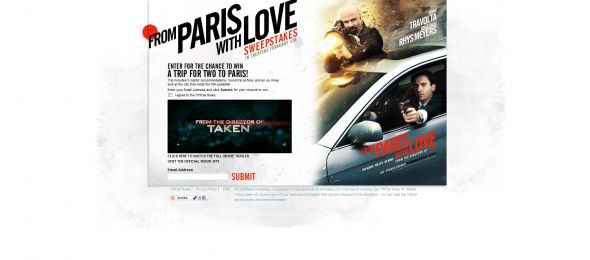 From Paris with Love Sweepstakes