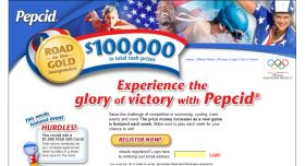 The PEPCID 2008 Road to The Gold Sweepstakes