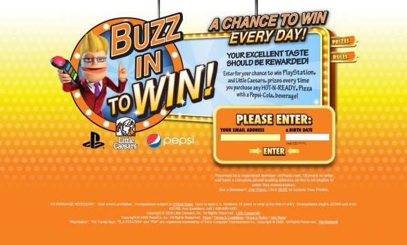 Pepsi Little Caesars Buzz In to Win Sweepstakes