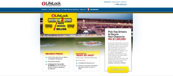 LifeLock Lock In 2 Win Sweepstakes