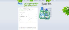 Purex Save Green with Purex Sweepstakes
