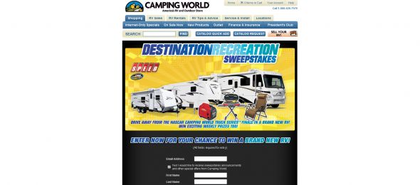 Camping World's Destination Recreation Sweepstakes