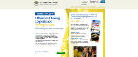Restaurant.com Ultimate Dining Experience Sweepstakes