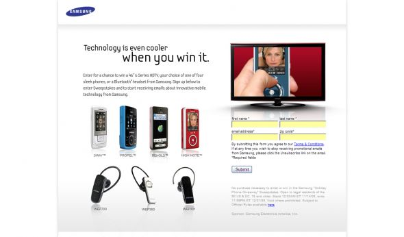 Samsung Holiday Phone Giveaway Sweepstakes
