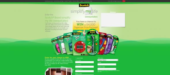 Scotch Brand Simplify My Life Sweepstakes