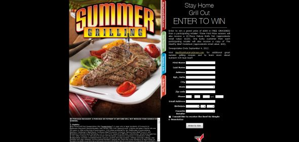 Stay Home Grill Out Sweepstakes