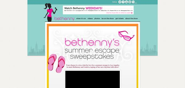 bethennytv.com/summerescape – Bethenny's Summer Escape Sweepstakes