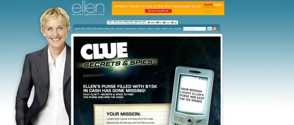 The Ellen Clue:  Secrets & Spies Sweepstakes