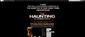 Haunting in Your Home Town Sweepstakes