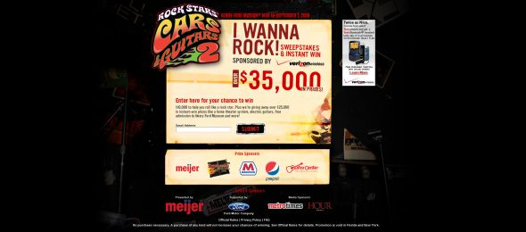 Henry Ford I Wanna Rock! Sweepstakes & Instant Win