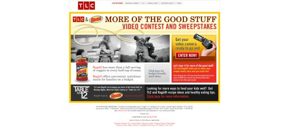 TLC and Ragu More of the Good Stuff Video Contest and Sweepstakes