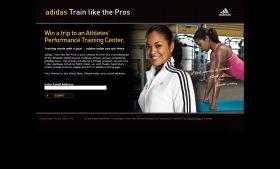 adidas Train like the Pros Promotion