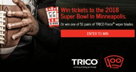 Trico Big Game Sweepstakes 2017 (TricoWipers.com/BigGame)