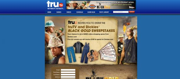 truTV and Dickies Black Gold Sweepstakes