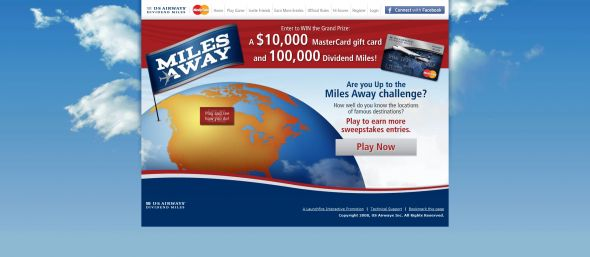 US Airways Miles Away Sweepstakes