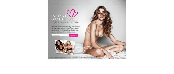 Instant Gratification by Victoria's Secret Promotion