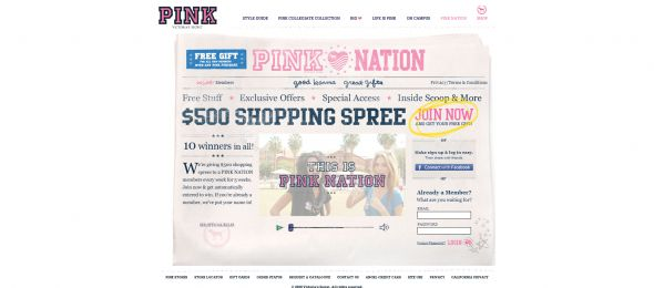 Victoria's Secret Pink Nation Sweepstakes