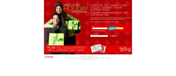 Watch and Win Holiday Sweepstakes