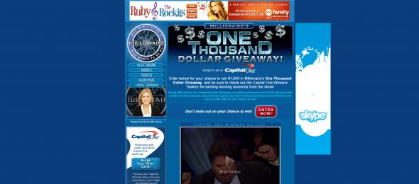 Millionaire's One Thousand Dollar Giveaway