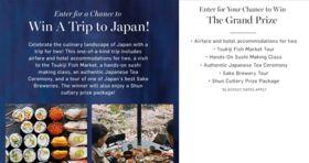 Williams Sonoma Win a Trip to Japan Sweepstakes (Williams-Sonoma.com/JapanTrip)