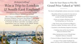 Williams-Sonoma London And South East England Sweepstakes (Williams-Sonoma.com/LondonTrip)