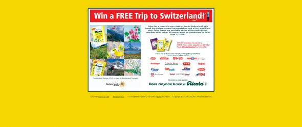 Ricola Win a Trip to Switzerland Sweepstakes