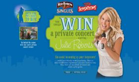 You Could Win a Private Concert Starring Julie Roberts Promotion