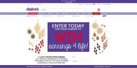 Sweepstakes: Win Earrings 4 Life From Claire's