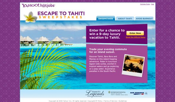 Escape to Tahiti Sweepstakes