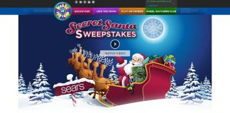 Wheel of Fortune Sears Secret Santa Sweepstakes