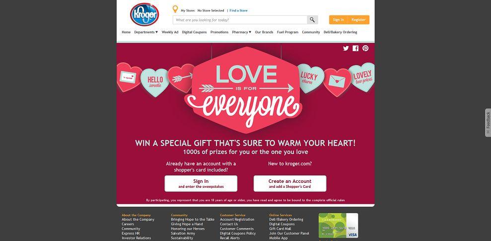 Kroger Valentine's Day Promotion