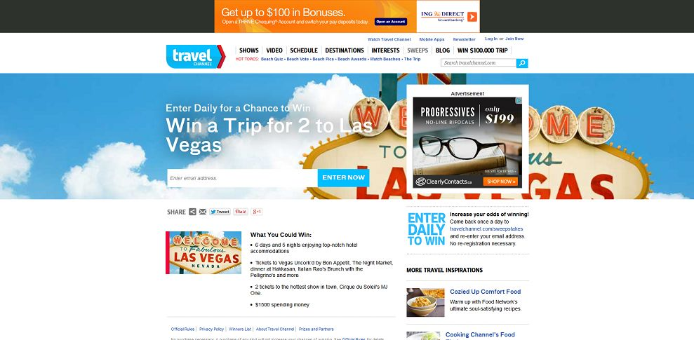 win travelchannel com