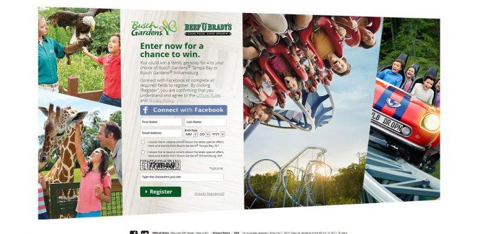 Busch Gardens Family Getaway Sweepstakes