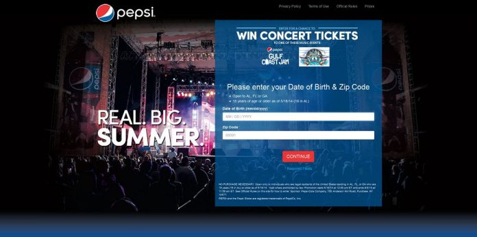 Pepsi Summer of Music Sweepstakes