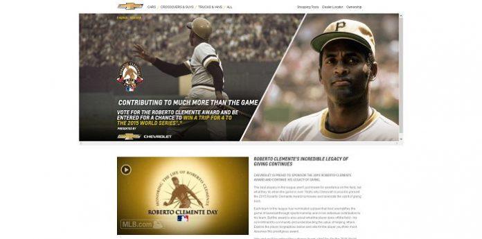 ChevyBaseball.com - MLB Roberto Clemente Award Sweepstakes