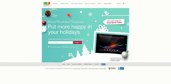 Coupons.com Winner Wonderland Sweepstakes