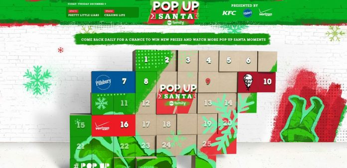 Pop Up Santa Sweepstakes