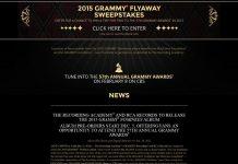 GRAMMY Nominees Album Flyaway Sweepstakes